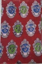 Cotton kalamkari block print fabric - 100 cms length by 43 New 1