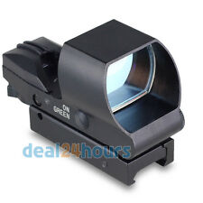 Tactical Holographic Reflex 4 Reticle Red Green Dot Sight Scope Picainny Rail