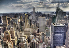 MURALE Parete NEW YORK CITY SKYLINE insonni Foto Carta da parati 366x254cm Wall Art