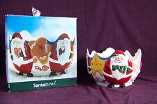 St Nicholas Square Santa round serving salad bowl Christmas porcelain china 1998