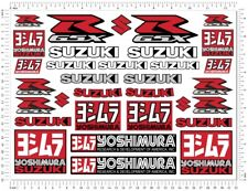 Suzuki GSXR 600 1000 Sticker Set Laminated Decals K5 K7 L1 Yoshimura Logo Tank