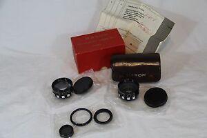 Mason Auxiliary Lens Set OPTROGON Telephoto & Wide Angle & Vivitar 27mm Pol See!