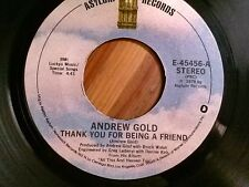 """ANDREW GOLD 45 RPM """"Lonely Boy"""" & """"Must Be Crazy"""" VG condition"""