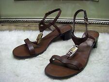 Beautiful Tory Burch Padlock Leather Sandal Shoes Size 8 M $295.00