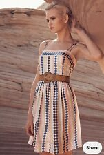 Anthropologie Girl from Savoy silk cooling palette polka dot dress UK size 10
