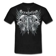 T-Shirt REVOLUTION Plastisol Hoody S- 5XL Harley Bike Motorrad Skull Metal Rock