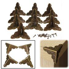 10x Antique Metal Jewelry Gift Box Corner Decor Feet Leg Protector Guard Bronze
