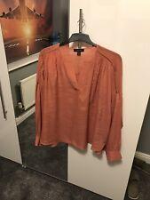 Orange Boho Style Tunic Top Size UK 20