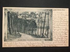 Antique POSTCARD c1903 Shore Walk on Lake Carasaljo LAKEWOOD, NJ (20167)