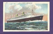 SS Nieuw Amsterdam @ Sea Color Postcard - Holland America Line