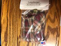 Longaberger Cracker Basket Liner Orchard Park Plaid New USA
