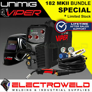 UNIMIG Viper 182 Mk II Bundle - Welder + Helmet + Torch + Reg Mark 2 Mk2 U11002K