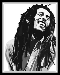 BOB MARLEY REGGAE SKA JAMAICA MUSIC RASTAFARIAN METAL PLAQUE TIN WALL SIGN 1619