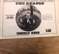 THUNDERCLAP NEWMAN The Reason 1970 UK Press ADVERT 12x8 inches