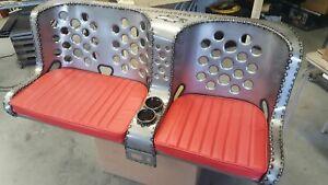 "Iron Ace ""Split-Bomber"" Bench Seat Rat Rod Seat Hot Rod ""BENCH"" Seat - 55"" - 59"""