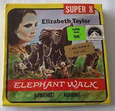 Película de película 8mm Elefante caminar Elizabeth Taylor Super 8 B/W Sellada