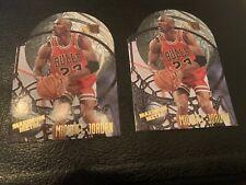 (2)1995-96 Fleer Metal Maximum Metal Michael Jordan #4 Insert Card Chicago Bulls