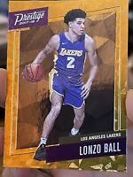 Lonzo Ball 2017-18 Prestige Micro Etch Rookies Gold #2  Los Angeles Lakers RC