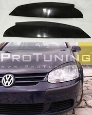 VW Golf V MK5  eyebrows headlight spoiler lightbrows eye lids brows covers 5 gt