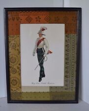 Print Military Kings Own Scottish Borders Scotland BRITISH ARMY Framed
