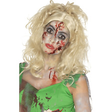 Smiffys Zombie Fairy Wig, Blonde tinkerbell halloween fancy dress party
