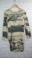 BNWT Religion Dynamic Sweat Bodycon Dress in Quicksilver rrp £65