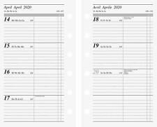 Taschenkalender 2019 Mini rido 9x15cm 1 Monat auf 2 Seiten WOW