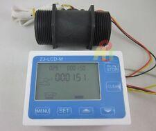 "G1-1/2"" 1.5"" Flow Rate Water Sensor Meter+LCD Digital Display Control Total flow"