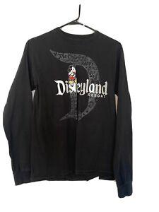 Disney Parks Disneyland Black Long Sleeves T Shirt Unisex Size Small