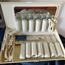 Sunbeam Travel 12 Hair Setter Hot Rollers Curlers with Clips Cruise Resort