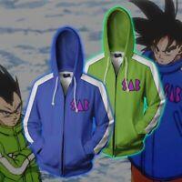Anime Dragon Ball Super Goku Vegeta 3D Print Hoodie Sweatshirt Zip Up Jacket Top