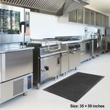 "Kitchen mat Floor Mat Anti Fatigue Kitchen Bar Rubber Drainage Black 36"" x 60"""
