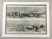 1855 The Battle of Sevastopol Crimean War Original Antique Military Print