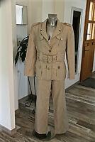 luxueux tailleur VINTAGE lin doré bcbg JC de CASTELBAJAC pantalon 44 veste 46 fr