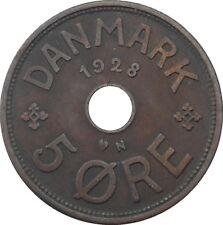 Denmark Danmark 5 ore 1928 N♥ GJ - Christian X - KM#828.2 (2000)
