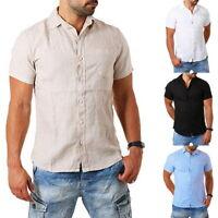Men Short Sleeve Casual Loose Cotton T-shirt Dress Shirt Blouse Tops Tee