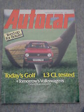 Autocar (18 Feb 1984) VW Golf road test, Aston Martin V8, Amilcar CGSs, Thrust 2