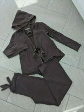 Moda Mothercare 10 Brown Hooded Tie Waist Jacket & Under Bump Wide Leg Trousers