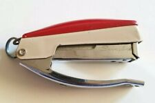 Vintage Swingline 85-06 Hand Stapler Red Beige, Made in USA, Tested Working