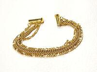 Bijou  alliage doré bracelet trois chaines bangle