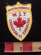 Vtg 1970s Canada Patch - Maritime Provinces Canadian Caravan WIT 85V8