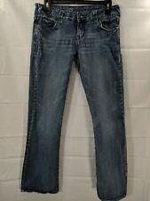 DELIAS REESE Juniors Medium Wash Low Rise Straight Leg Stretch Jeans size 9/10S