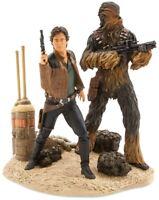 Solo: A Star Wars Story Han Solo & Chewbacca L.E. /1400 Statue Disney Store NIB