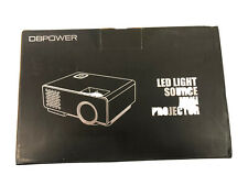 DBPOWER 2018 LED Light Source Black Mini Projector - PJ0738, NEW In Box White