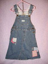 OSHKOSH GIRLS BIB OVERALL DRESS Jumper Size 5 Adjustable Heavy Durable