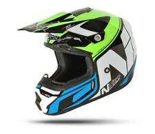 NITRO MX600 Holeshot MX Motocross Road Casco Negro Verde Azul Talla S M L XL XXL