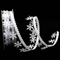 White Snowflake Ribbon Lace Trim Wedding Wrapping Craft Wedding s Decor lskn