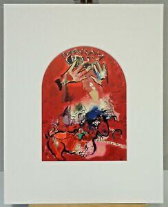 Marc CHAGALL CS15-pp Original Lithographie Jerusalem 04/12: Juda