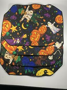 4 Halloween Pumpkin Jack O Lantern Ghost Witch Scarecrow Placemats