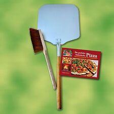 Pizzaschaufel Set 3-teilig für Pizzaofen Holzbackofen Steinbackofen Pizza Brot